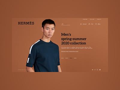 Hermes shopping shop hermes vector logo icon design web website ux ui minimal