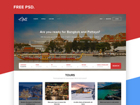 Travel Agency Landing Page | Free PSD