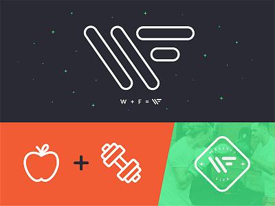 WellFit Branding Update fitness logo exercise workout apple nutrition weight branding freelance life hustle