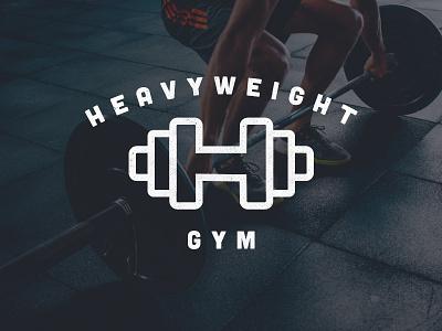 Heavy Weight Gym freelance life brand gymnasium logo hustle dumbbell weight exercise gym