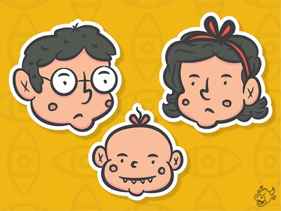Unfortunate girl boy series of unfortunate events baby vector illustration characters netflix