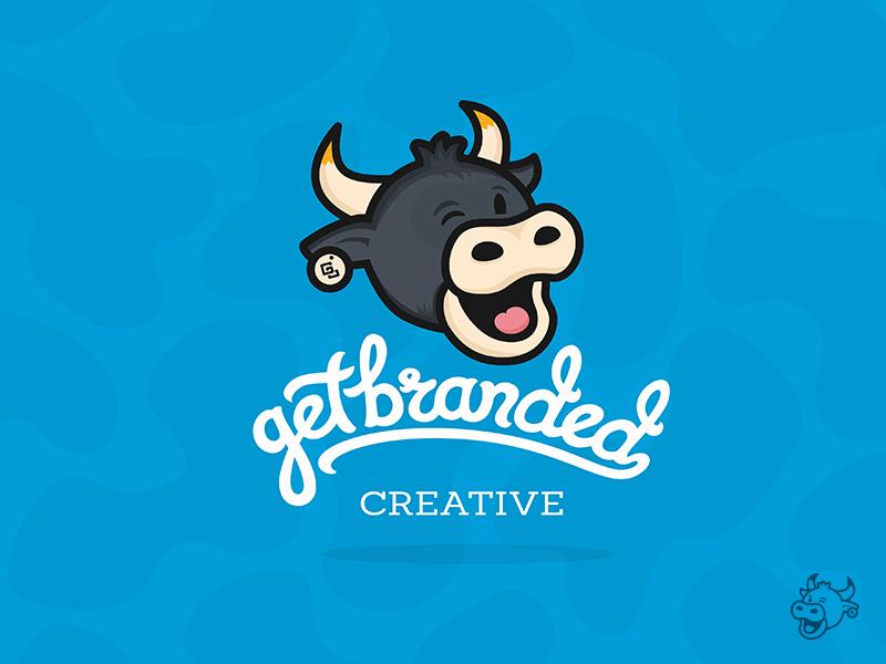 GetBranded Cow (Wink) moo character script custom type logotype logo cow
