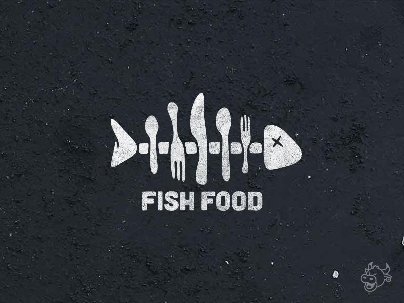 FishFood Logo restaurant food spoon knife fork fish logo