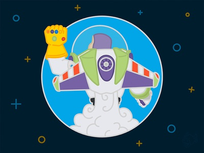 Infinity & Beyond (WIP) disney pixar marvel stones gauntlet infinity war thanos toy story lightyear buzz