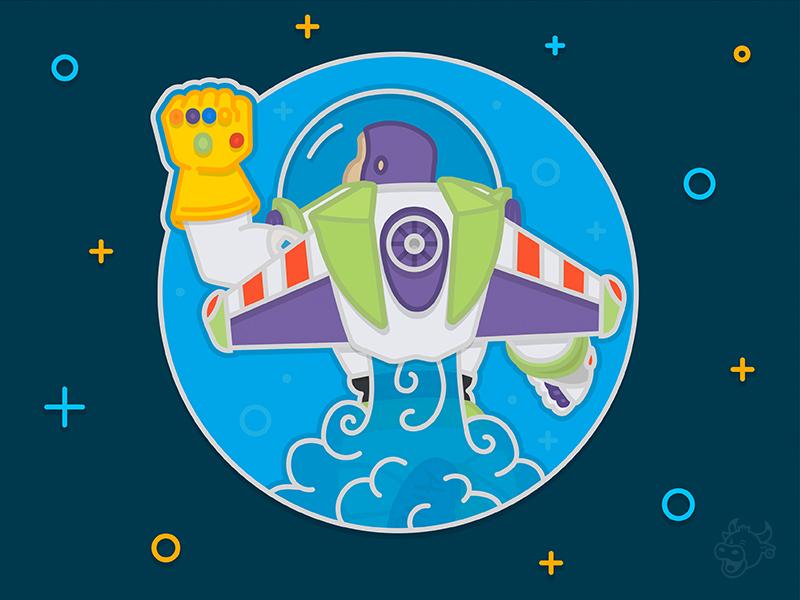 Infinity & Beyond avengers buzz lightyear toy story thanos infinity war gauntlet stones marvel pixar disney