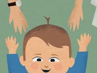 Niece - portrait illustration details