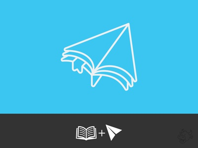 School Pilot Logo (WIP) vector mark illustration branding brand flight pages book paper airplane paperplane paper airplane logo school