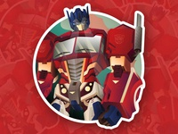 Optimus Sticker robot illustration transformers optimus prime sticker