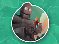 Iron Giant Sticker illustration hogarth iron giant sticker robot