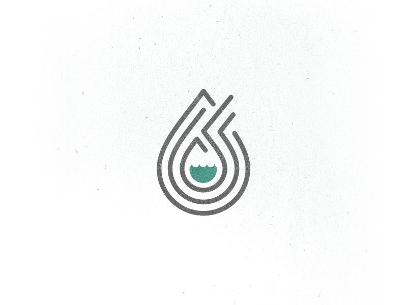 Floodgate flood water drop church logo mark