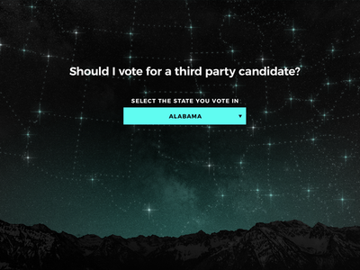 Should I vote for a third party candidate? constellation star dark tectonica nationbuilder jill stein hillary trump 2016 elections political