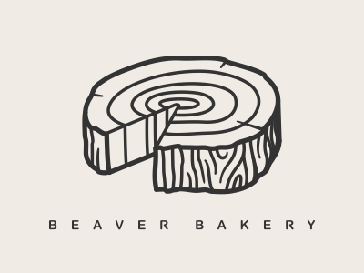 beaver bakery logo naming beaver bakery wood works carpenter cafe logo wooden log pie