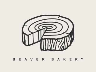beaver bakery logo naming beaver bakery wood works carpenter cafe logo wooden log pie