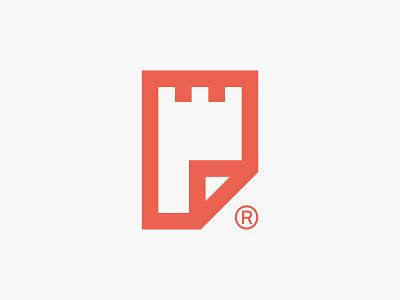 filefort logo naming flat app startup file logo filefort security mark symbol fort
