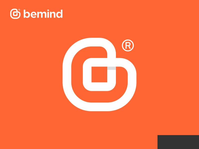 B logo app icon flat logo design b letter mark symbol heart