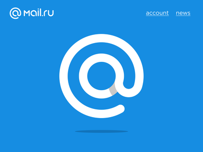 mail.ru at sign logo mail.ru loading search app at symbol logo rebranding mail
