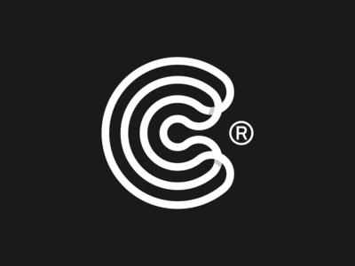 CC logo minimalist app design cc flat material complete logo c