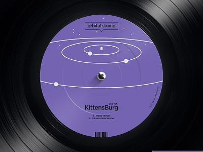 Orbital Studio logo system mark vinyl sticker cover logo label record studio orbital