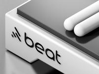 beat rabbit logo run markforge drum app machine rounded sound bun rabbit bunny flat logo beats