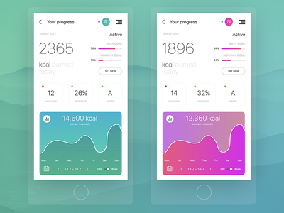 Fitness App - Stats Screen