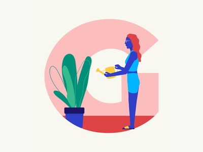 36 days of type | Letter G gardening garden grow grow a garden 36days-g 36days-adobe 36daysoftype06 36daysoftype vector typography after effects wacom intuos after effects animation animation graphic illustration design illustrator graphic design
