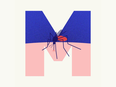 36 days of type | Letter M mosquitoes mosquito 36days-m 36days-adobe 36daysoftype06 36daysoftype vector typography after effects wacom intuos after effects animation animation graphic illustration design illustrator graphic design