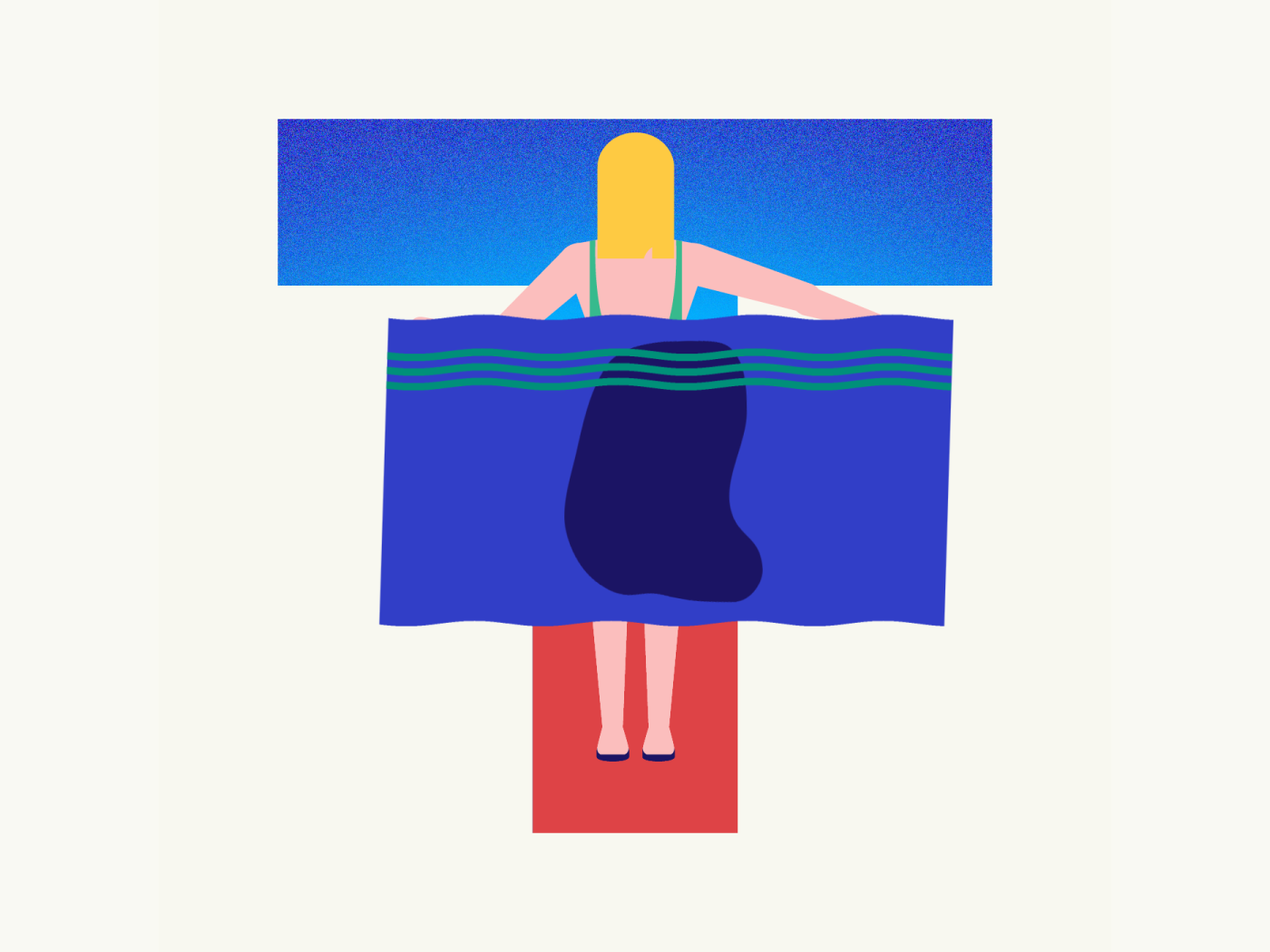 36 days of type   Letter T wet towel summer vibes summer 36days-t 36days-adobe 36daysoftype06 36daysoftype vector typography wacom intuos illustration design graphic illustrator graphic design