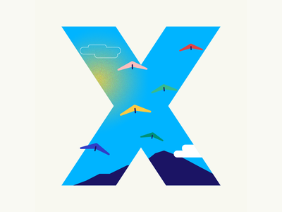 36 days of type | Letter X extreme sport xtreme summer vibes summer 36days-x 36days-adobe 36daysoftype06 36daysoftype vector typography wacom intuos illustration illustrator design graphic graphic design
