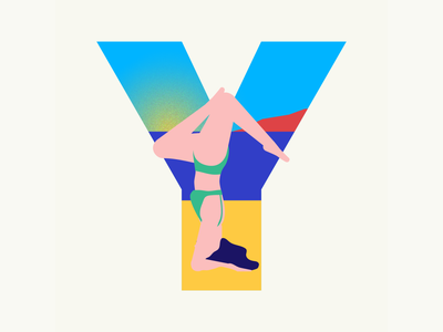 36 days of type | Letter Y yoga 36 days of type summer vibes summer 36days-y 36days-adobe 36daysoftype06 36daysoftype vector typography wacom intuos illustrator illustration design graphic graphic design