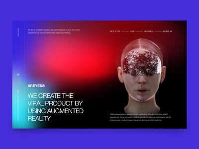 AR studio - design concept hero image digitalart artwork ar ui