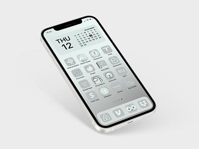 Silverado — A Custom iOS Icon Set awesome grey white silver ios 14.3 retina custom ios app icon