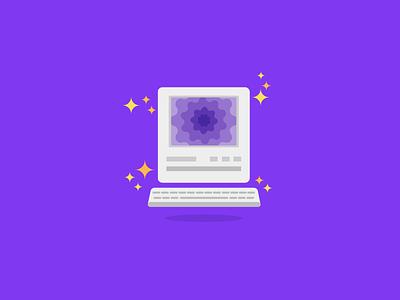 Web Portal magical hacky computer vector flat illustration portal
