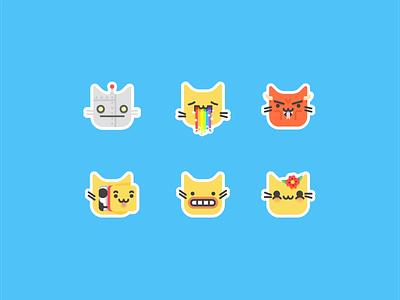 Kittimoji kittimoji kitty emotions expressions faces emoji imessage ios stickers cat kitten