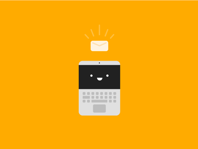 You've got, Mail! material notify happy laptop illustration flat computer email mail