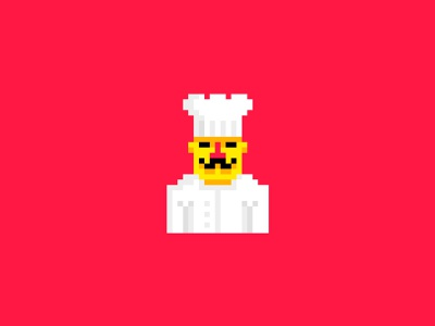 Chef kitchen food recipe cook pixel 8 bit chef