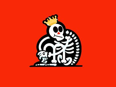 Skelly Prince whatever flat digital inktober toon procreate prince spooky skeleton