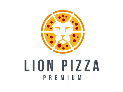 Lion Pizza Logo