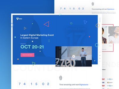 Digitalzone 2017 landing page event marketing user experience user interface design web