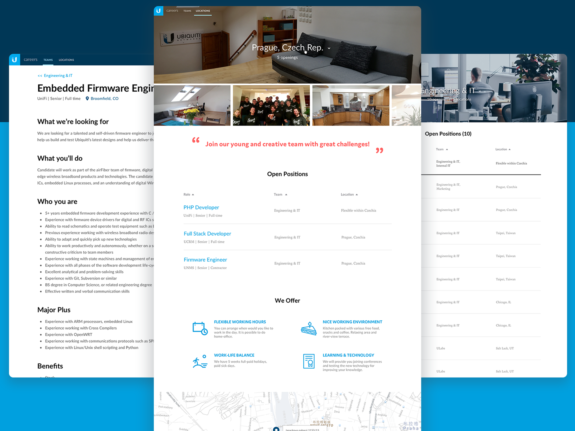 Ubiquiti Career Page - Office by Sarah chen on Dribbble