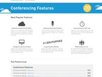 Conferencing Website Mockup