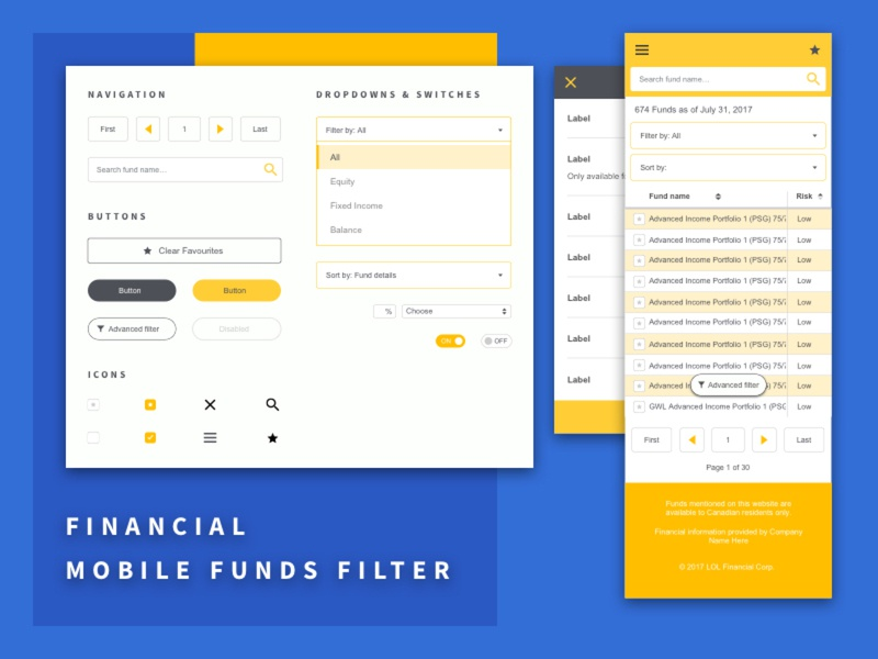 Filter & Table UX for Mobile mobile table mobile filter filter ui table ui design ui pack wireframe mobile ui ux tables filters