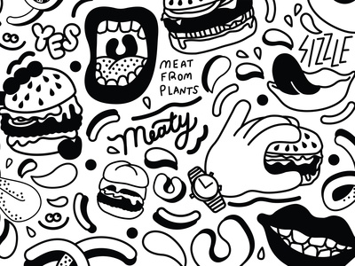 Impossible Foods Event Illustration