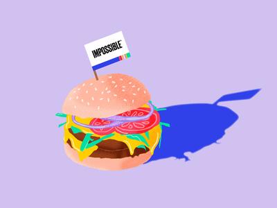 Impossible™ Burger Illustration