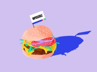 Impossible™ Burger Illustration