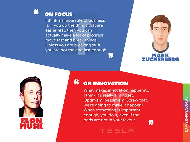 10 Inspiring Tech Entrepreneurs infographic quotes mobile developers mobile app app designers australia app designers app developers australia app developers dapper apps