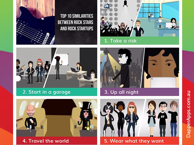 Top 10 Similarities between Rock Stars and Rock Startups infographic startup rock stars mobile developers mobile app app designers australia app designers app developers australia app developers dapper apps