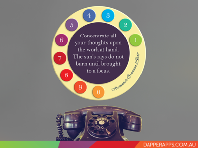 Alexander Graham Bell on Focus