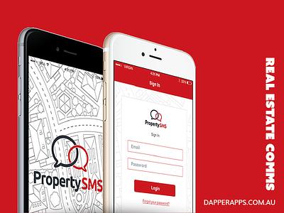 Property SMS App Design, UX and Development app developers australia ui ux app development mobile app design mobile app dapper apps