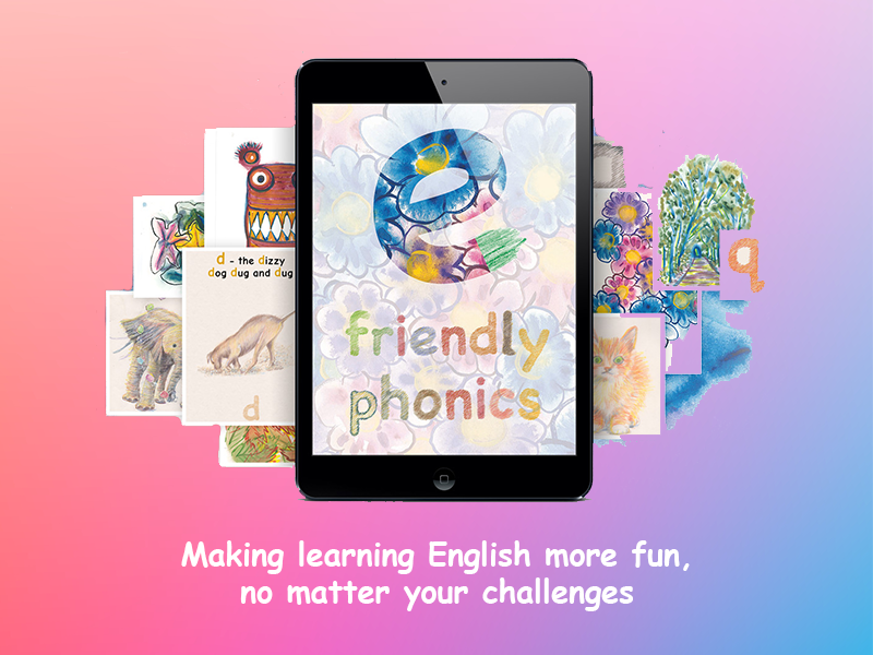 Friendly Phonics App Design, UI, UX and Development by Dapper Apps