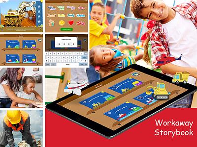 Workaway Storybook App Design, UI, UX and Development app developers australia dapper apps ux design ui design tech mobile business app apps perth app design